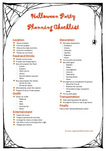Resource: Halloween party planning checklist