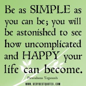 Simple happy life