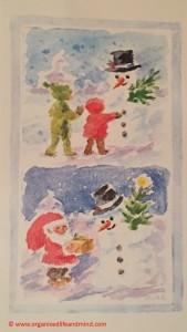 Oma Weihnachtskarte