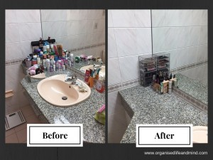 Bathroom make up before after