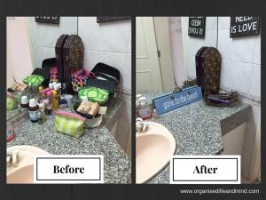 Make up bathroom before after