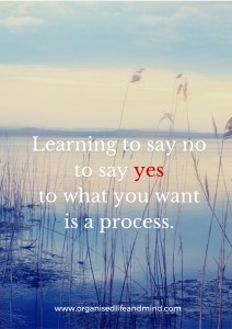 Say yes to what you want