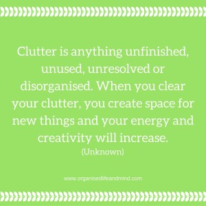 Clutter is anything...