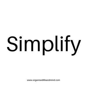 Simplify Saturday quote