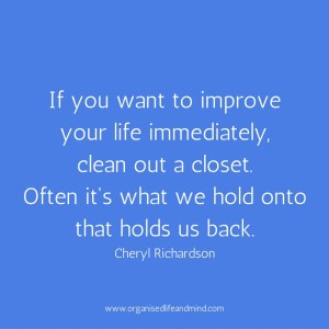Saturday quote: Clean out a closet