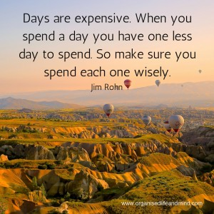 Saturday quote: Days are expensive