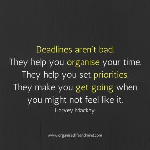 Saturday quote: Deadlines aren't bad