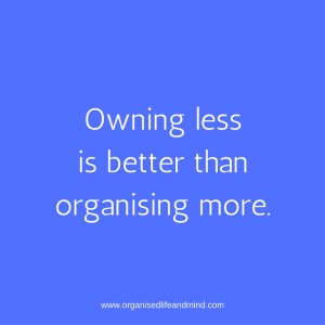 Saturday quote: Owning less