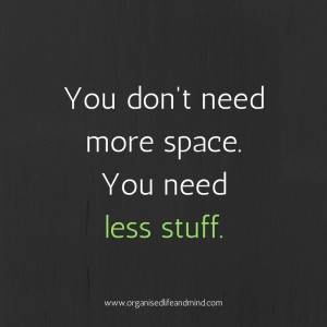 Saturday quote: You don't need more space