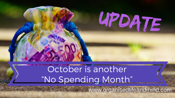 October is another no spending month update