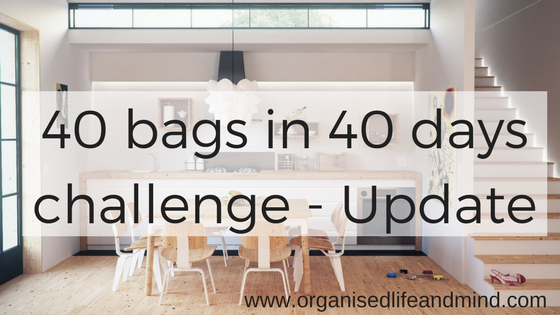 40 bags in 40 days challenge (Update)