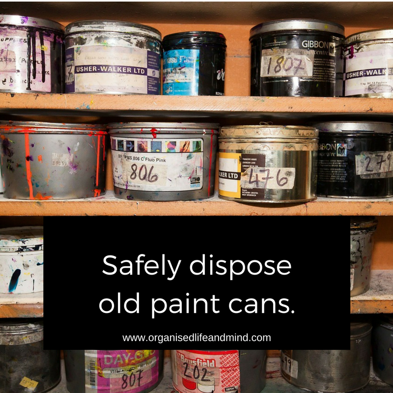 40 bags in 40 days challenge update organised life and for How to dispose of empty paint cans