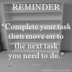 Complete a task Saturday quote