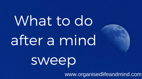What to do after a mind sweep