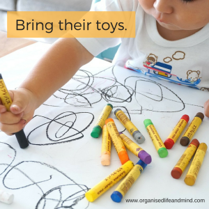 Bring their toys travelling with children