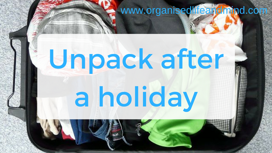 Unpack after a holiday