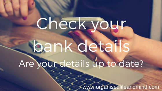 Check your bank details
