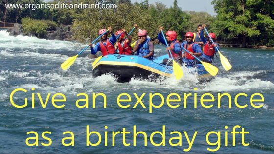 Give an experience as a birthday gift