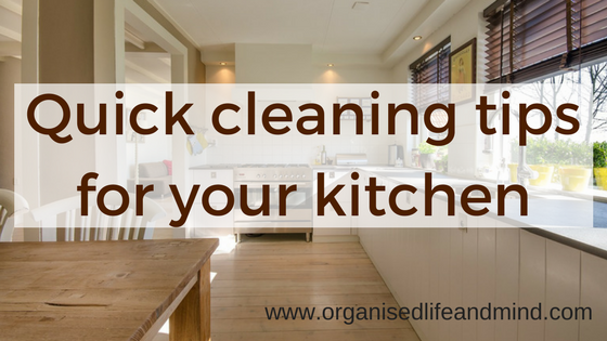 Quick cleaning tips for your kitchen