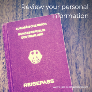 Review your personal information check your bank details