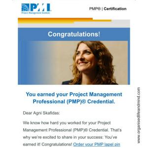 PMP Congrats professional certificate