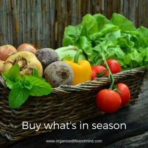 Buy what's in season meal planning