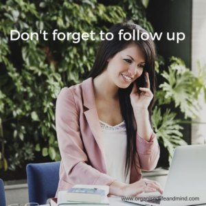 Don't forget to follow up after networking