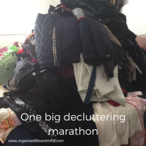 One big decluttering marathon