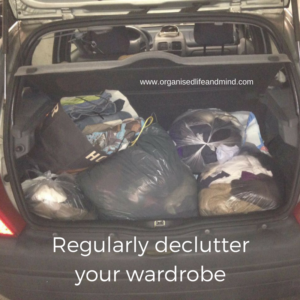 Regularly declutter your wardrobe stuff