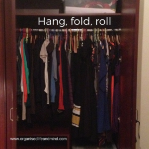 Hang, fold, roll wardrobe