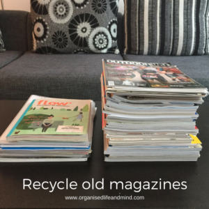Recycle declutter old magazines
