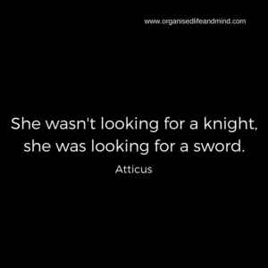 SHe wasn't looking for a knight, she was looking for a sword unexpected events