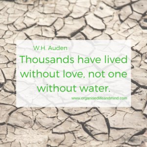 Thousands have lived without love, not one without water