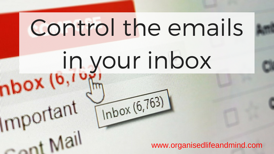 Control the emails in your inbox