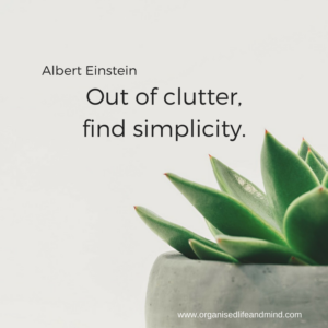 Out of clutter, find simplicity clear your clutter