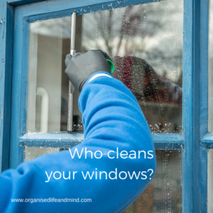 Who cleans your windows hire a cleaner