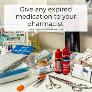 Give any expired medication to your pharmacist.