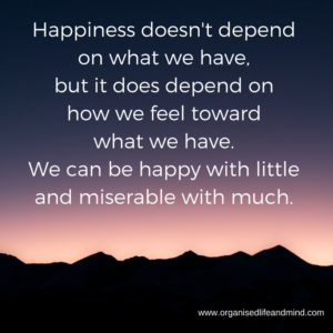 Happiness doesn't depend