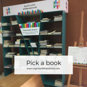 Pick a book declutter your books