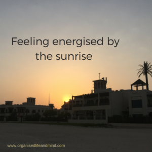 Feeling energised by the sunrise