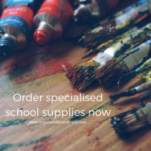 Order specialised school supplies now for the next school year
