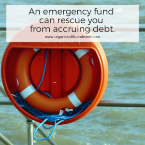 An emergency fund can rescue you from accruing debt