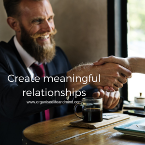 Create meaningful relationships before a job move