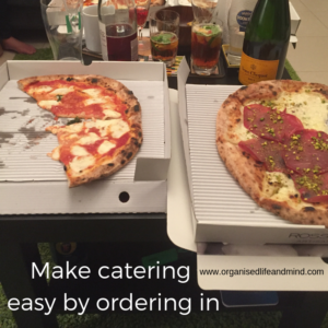 Make catering easy by ordering in surprise party