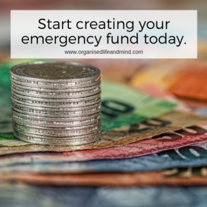 Start creating your emergency fund today