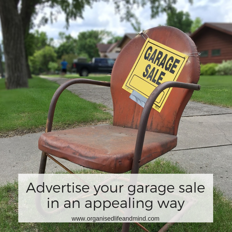 advertise your garage sale in an appealing way to make money