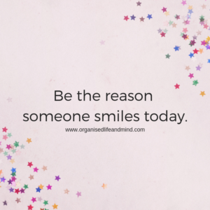 Be the reason someone smiles today Saturday quote