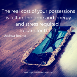The real cost of your possessions Saturday quote