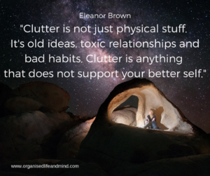 Clutter Better Self Saturday quote