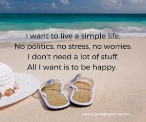 Simple life Saturday quote
